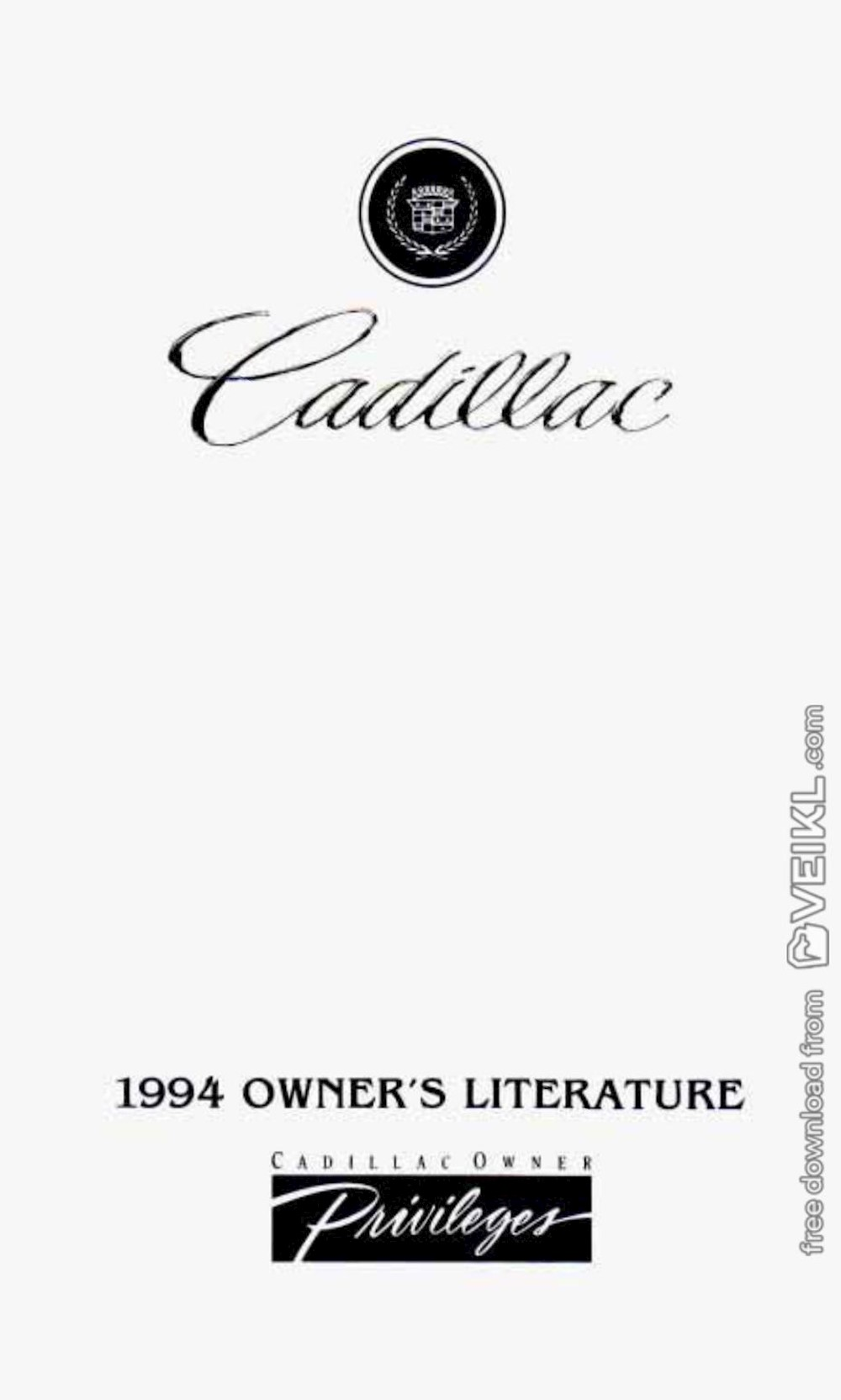 Cadillac DeVille Owner's manual 1994 EN
