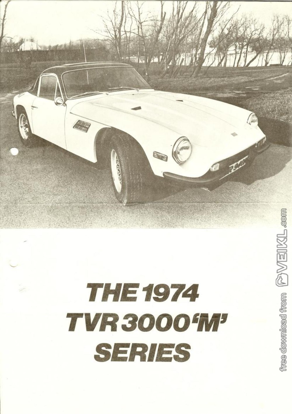 TVR 3000 M Series Brochure 1974 EN