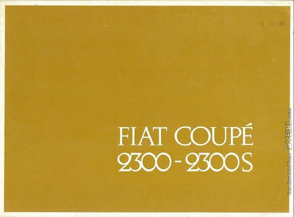 Fiat 2300 Coupe and 2300S Coupe Brochure 1962 DE