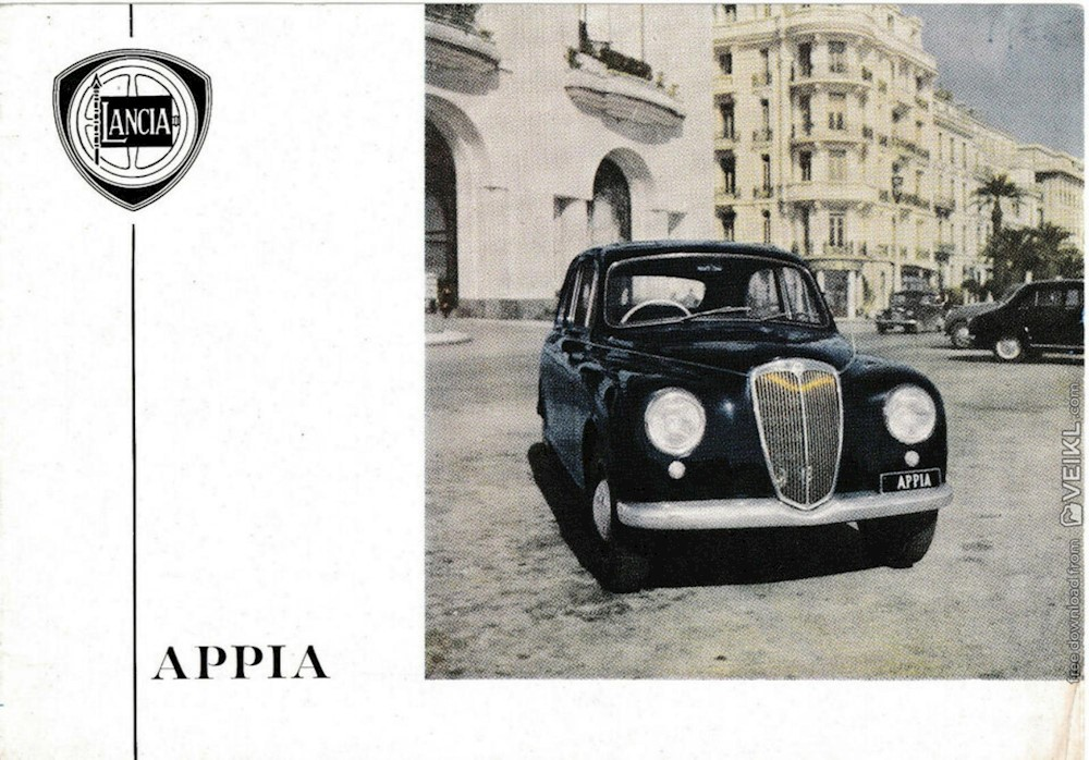 Lancia Appia Brochure 1954 IT