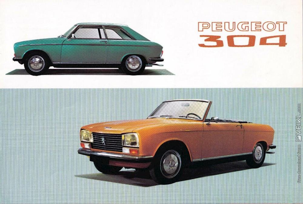 Peugeot 304 Cabriolet and Coupe Brochure 1970 FR
