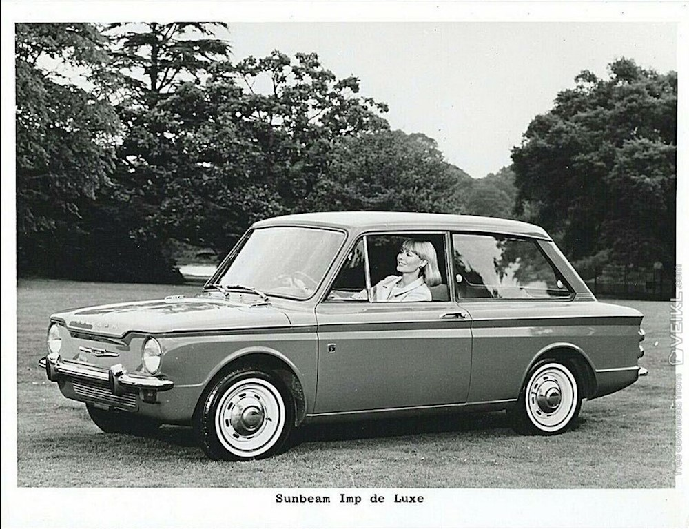 Sunbeam Imp De Luxe Photo Press 1966