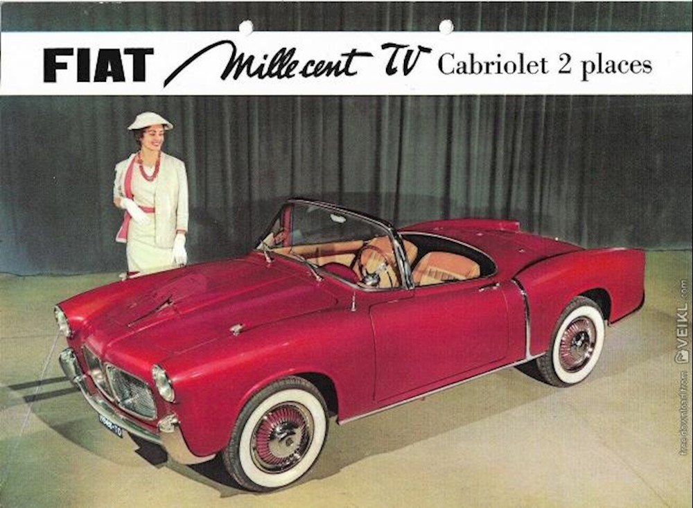 Fiat 1100 TV Cabriolet Brochure 1955 FR France