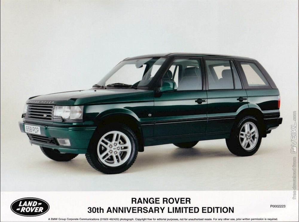 Range Rover P38A Range Rover 30th Anniversary Limited Edition Photo Press 2000 EN