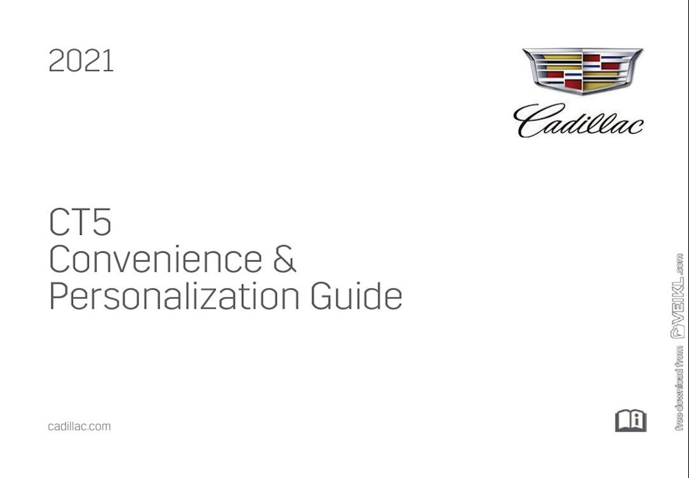 Cadillac CT5 Convenience & Personalization Guide 2021 EN