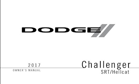 Dodge Challenger SRT / Hellcat Owner's manual 2017 EN